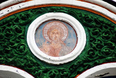 External church wall icon in Trinity Sergius Lavra Stock Images