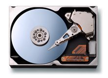 External Computer Hardrive Data. Computer Hardrive on a white background royalty free stock photos