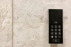 External control panel of modern elevator Royalty Free Stock Photography