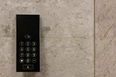 External control panel of modern elevator Royalty Free Stock Photo