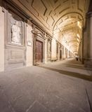 External corridor of Uffizi gallery in Florence Royalty Free Stock Photography