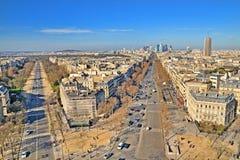 External daylight general view of Paris Royalty Free Stock Photos