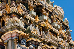 External decoration of hindu temple in Sri Lanka Stock Image