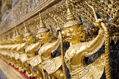 External decorations of Ubosoth, Bangkok Royalty Free Stock Photography