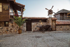 External design of the restaurant in Sozopol, Bulgaria Stock Image
