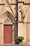 External detail for a Catholic church Royalty Free Stock Images