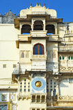 External detail of City Palace in Udaipur, India Royalty Free Stock Photography