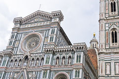External details of Santa Maria del Fiore cathedral in Florence Royalty Free Stock Images