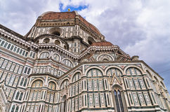 External details of Santa Maria del Fiore cathedral in Florence, Tuscany Royalty Free Stock Photo