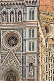 External details of Santa Maria del Fiore cathedral in Florence, Tuscany Royalty Free Stock Images