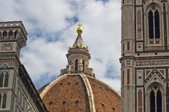 External details of Santa Maria del Fiore cathedral in Florence, Tuscany Royalty Free Stock Photos