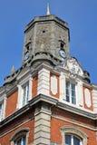 External details of the town Hall and the Belfry in Boulogne sur Mer, Cote d`Opale, Pas de Calais, Hauts de France Stock Photo