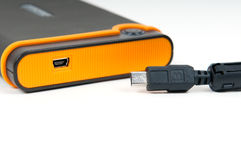 External device with mini-usb socket Stock Photography