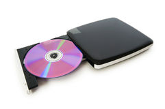 External dvd drive isolated Stock Photos