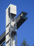 External elevator over blue sky Stock Photo