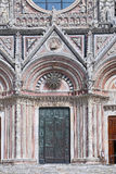 External facade of the cathedral of Siena, Italy Stock Images
