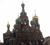 Sights of St. Petersburg. The external features of the Christian church are determined by the history of the development of Christianity, and modern directions Stock Image