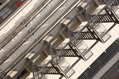 External fire escape in a building Royalty Free Stock Photo