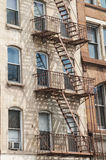 External fire escape staircase Royalty Free Stock Photo
