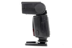 External flash. Standing in white isolted Stock Images