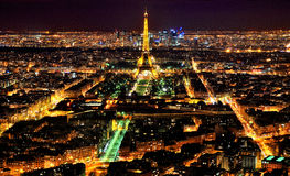 External general view of Paris in the night Stock Image