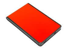 External Hard Disk. Red External Hard Disk Isolated On White Royalty Free Stock Image