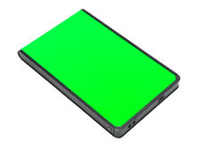 External Hard Disk. Green External Hard Disk Isolated On White Royalty Free Stock Photography