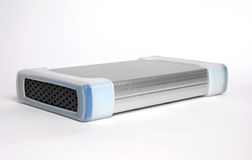 External Hard Disk. Isolated on white background Stock Image