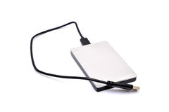 External hard disk drive isolated on white.  Stock Photography