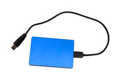 External hard disk drive. Isolated on the white background Royalty Free Stock Photography