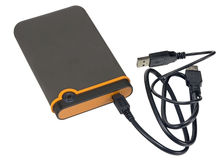 External hard disk drive. On white background Stock Photography