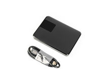 External hard disk drive on white background . External hard disk drive on white background Stock Photo