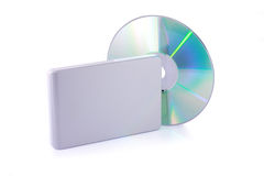 External hard disk and dvd  Stock Image