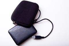 External hard disk. On a white background Stock Images