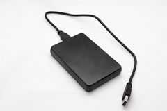 External Hard Disk. On isolated background Royalty Free Stock Images
