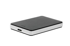 External Hard Disk on isolated background. External Hard Disk Drive on isolated background Stock Image