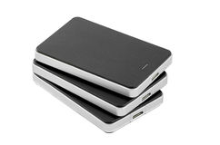 External Hard Disk on isolated background. External Hard Disk Drive on isolated background Stock Photos