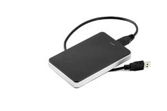 External Hard Disk on isolated background. External Hard Disk Drive on isolated background royalty free stock photo