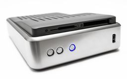 External Hard Disk (Top Front View) Stock Photo