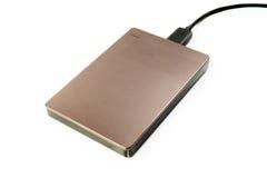 External Hard Disk USB 3.0 on isolated. White background Royalty Free Stock Image