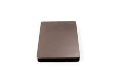 External Hard Disk USB 3.0 on isolated. White background Stock Photos