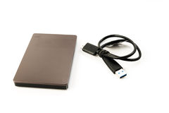 External Hard Disk USB 3.0 on isolated. White background Royalty Free Stock Photography