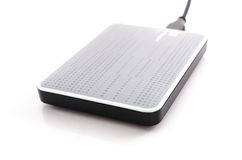 External Hard Disk on white background Stock Photography