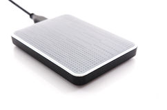 External Hard Disk on white background Royalty Free Stock Photography