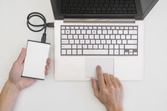 External hard drive backup Royalty Free Stock Image