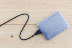 External hard drive for backup. Royalty Free Stock Photo