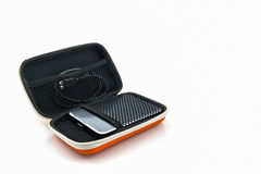 External hard drive carrying case. Royalty Free Stock Image