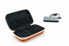External hard drive carrying case. Royalty Free Stock Photography