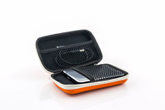 External hard drive carrying case. Stock Photo
