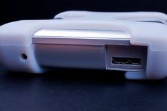External hard drive with USB 3.0 socket Stock Photos